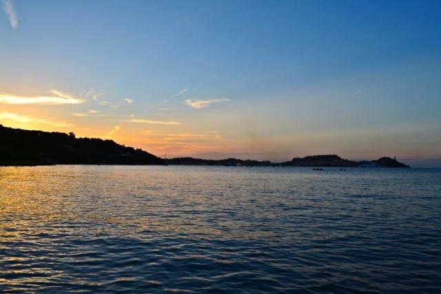 Sonnenuntergang vom Strand in der Nähe der Villa - Insel Elba